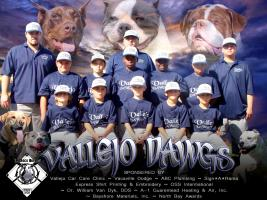 VALLEJO DAWGS BASEBALL Custom Shirts & Apparel